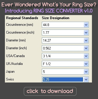 Ring Size Converter Cm Mm Eu To Us